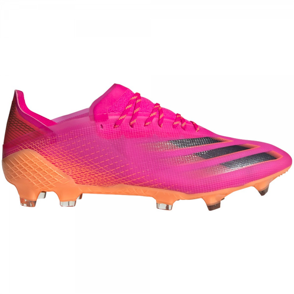 Adidas X Ghosted.1 FG Soccer Cleats (Shock Pink/Core Black/Screaming Orange)