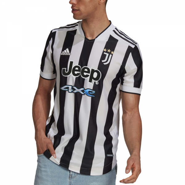 Adidas Juventus Home Authentic Soccer Jersey '21-'22 (White/Black)