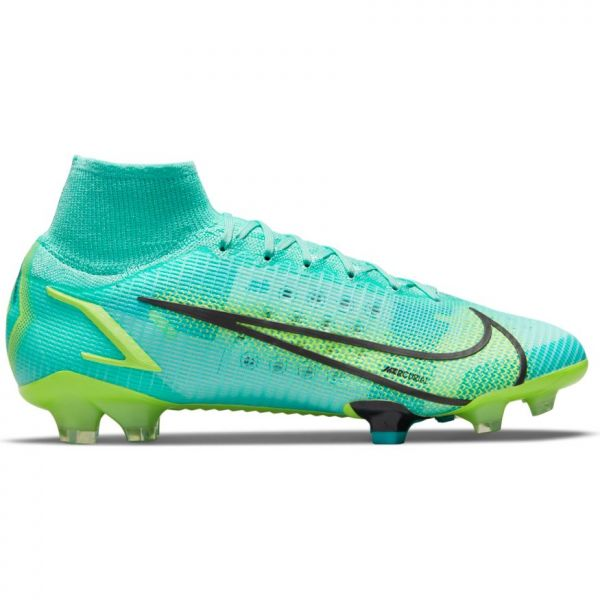 Nike Mercurial Superfly 8 Elite FG Soccer Cleats (Dynamic Turquoise/Lime Glow)