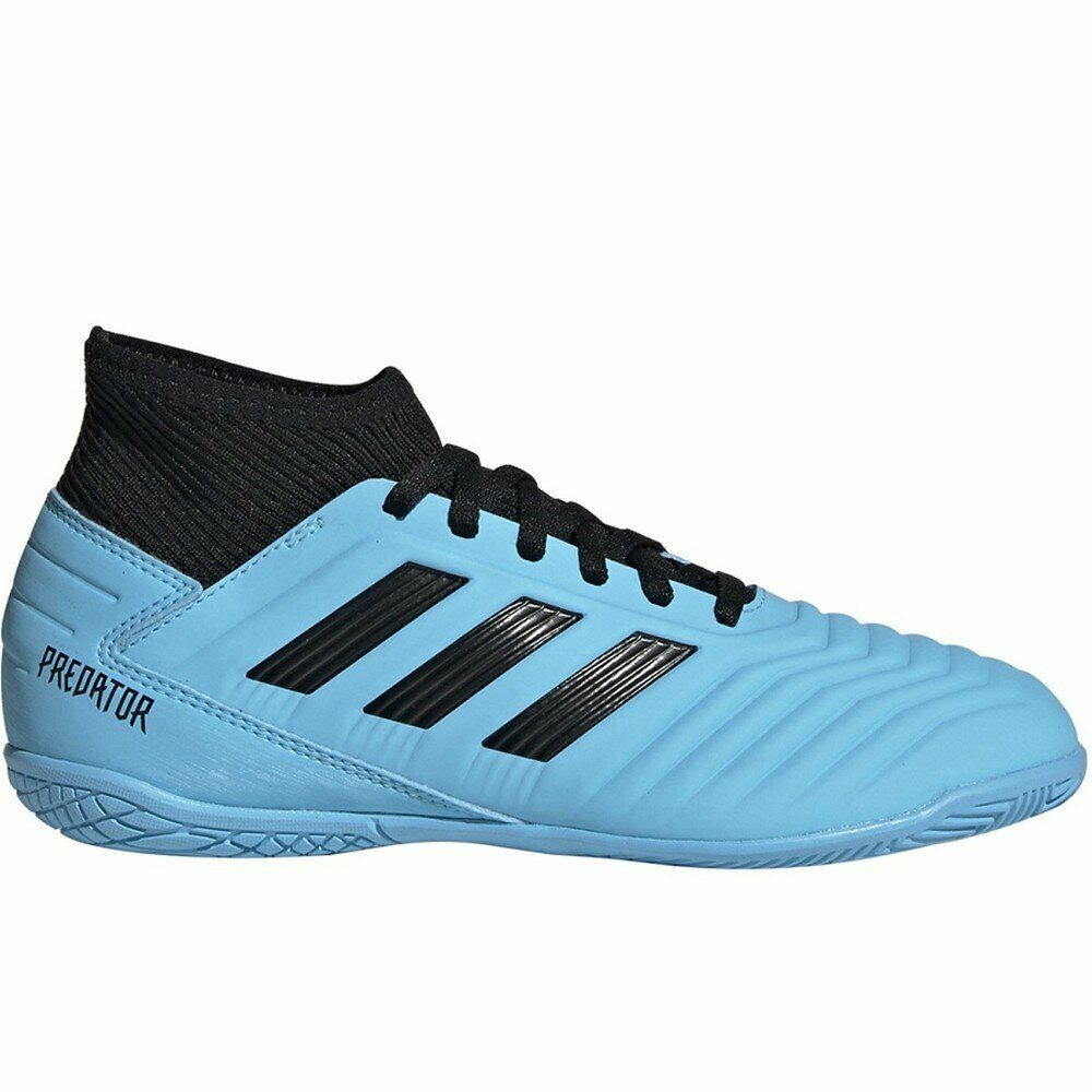 Adidas Youth Predator 19.3 Indoor Soccer Shoes (Bright Cyan/Core ...
