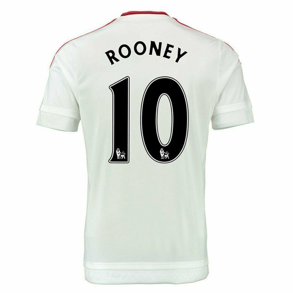 Manchester United 'ROONEY 10' Away '15-'16 Soccer Jersey (White ...