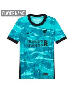 Nike Youth Liverpool Away Jersey '20-'21 (Hyper Turquoise/Black)