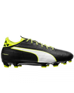 Puma evoTOUCH 3 FG Soccer Cleats (Black/Safety Yellow)