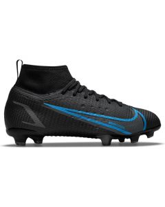Nike Mercurial Superfly 8 Pro FG Youth Soccer Cleats (Black/Black-Iron Grey)