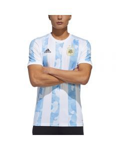 Adidas Argentina '20-'21 Home Soccer Jersey (White/Clear Blue)
