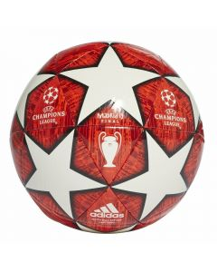Adidas Finale Madrid Capitano Soccer Ball (Off White/Power Red/Solar Red/Active Red)