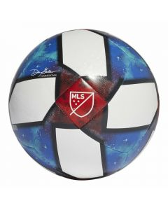Adidas 2019 MLS Top Capitano Soccer Ball (White/Black/Football Blue/Active Red)