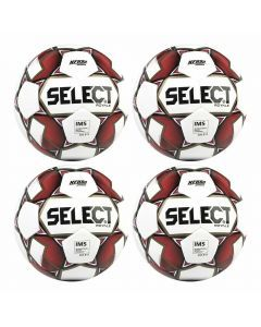 Select Royale Soccer Ball 4 Pack (White/Red)
