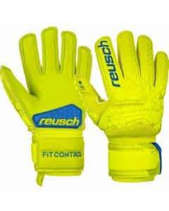Reusch Junior Fit Control S1 GK Gloves (Lime/Safety Yellow)