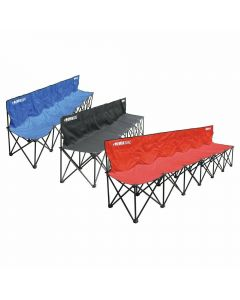 Kwik Goal Foldable 6 Seat Bench with Back