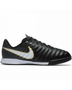 Nike Youth Tiempo Ligera IV IC Indoor Soccer Shoes (Black/White)