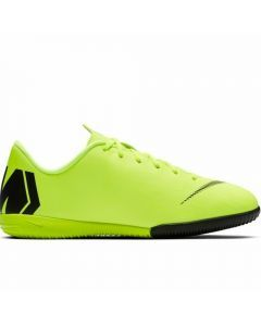Nike Youth VaporX 12 Academy IC Indoor Soccer Shoes (Volt/Black)