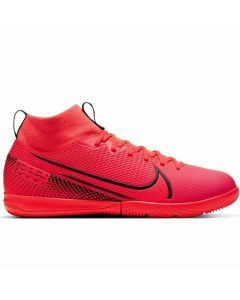 Nike Youth Mercurial Superfly 7 Academy IC Indoor Soccer Shoes (Laser Crimson/Black)