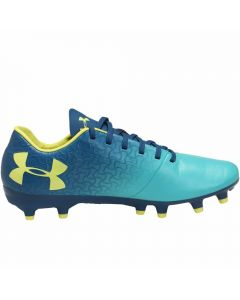 Under Armour Youth Magnetico Select FG Soccer Cleats (Teal Punch/Moroccan Blue/Tokyo Lemon)