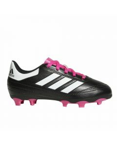 Adidas Youth Goletto VI FG Soccer Cleats (Black/White/Shock Pink)