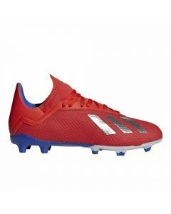 Adidas X 18.3 Youth FG Soccer Cleats (Active Red/Silver Metallic/Bold Blue)