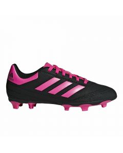 Adidas Youth Goletto VI FG Soccer Cleats (Core Black/Shock Pink/White)