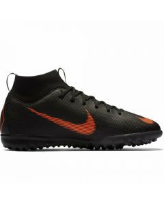 Nike Youth Mercurial SuperflyX VI Academy TF Turf Soccer Shoes (Black/Total Orange/White)