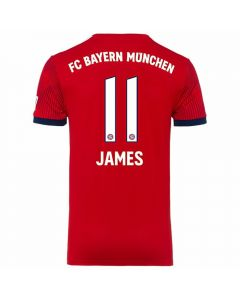 Adidas Bayern Munich 'JAMES 11' Home Jersey '18-'19 (FCB True Red/Strong Red/White)