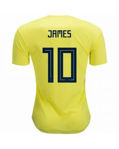 Adidas Colombia 'JAMES 10' Home Jersey '18-'19 (Bright Yellow/Collegiate Navy)