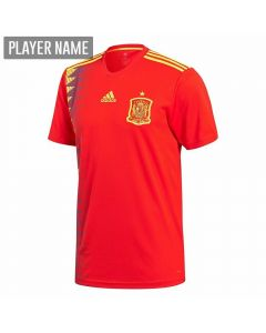 Adidas Spain Home Jersey '18-'19 (Red/Bold Gold)