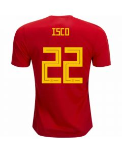 Adidas Spain 'ISCO 22' Home Jersey '18-'19 (Red/Bold Gold)