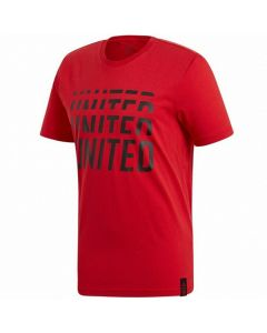 Adidas Manchester United DNA Graphic T-Shirt (Real Red)