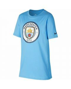 Nike Youth Manchester City FC Crest T-Shirt (Field Blue)