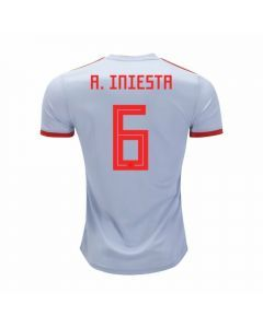 Adidas Youth Spain 'A. INIESTA 6' Away Jersey '18-'19 (Halo Blue/Bright Red)