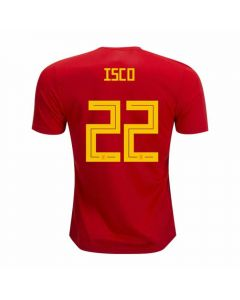 Adidas Youth Spain 'ISCO 22' Home Jersey '18-'19 (Red/Bold Gold)