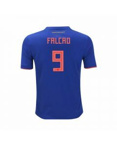 Adidas Youth Colombia 'FALCAO 9' Away Jersey '18-'19 (Bold Blue/Solar Red)