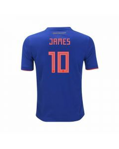 Adidas Youth Colombia 'JAMES 10' Away Jersey '18-'19 (Bold Blue/Solar Red)