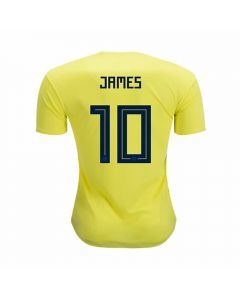 Adidas Youth Colombia 'JAMES 10' Home Jersey '18-'19 (Bright Yellow/Collegiate Navy)