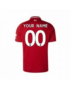 New Balance Youth Liverpool 'CUSTOM' Home Jersey '18-'19 (Red Pepper)