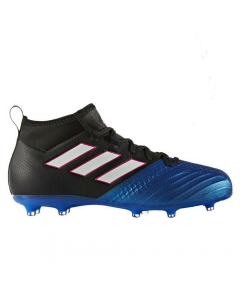Adidas ACE 17.1 Primeknit Youth FG Soccer Cleats (Black/White/Blue)