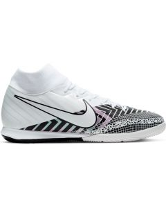 Nike Mercurial Superfly 7 Academy MDS Indoor/Court Soccer Shoe (White/White/Black)