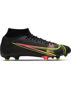 Nike Mercurial Superfly 8 Academy MG Soccer Cleats (Black/Cyber/Off Noir)