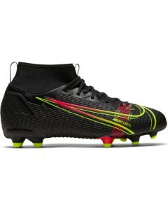 Nike Mercurial Superfly 8 Academy MG Youth Soccer Cleats (Black/Cyber/Off Noir)