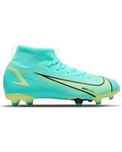 Nike Mercurial Superfly 8 Academy Youth MG Soccer Cleats (Dynamic Turquoise/Lime Glow)