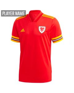Adidas Wales Home Jersey 2020 (Red/Collegiate Gold)