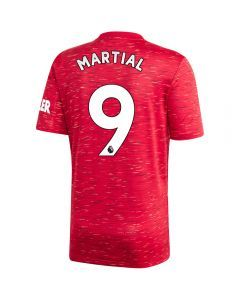 Adidas Manchester United 'MARTIAL 9' Home Jersey '20-'21 (Real Red)