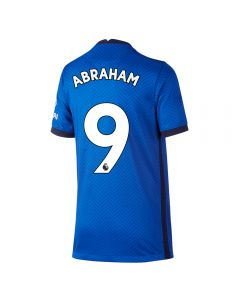 Nike Youth Chelsea 'ABRAHAM 9' Home Jersey '20-'21 (Rush Blue/White)
