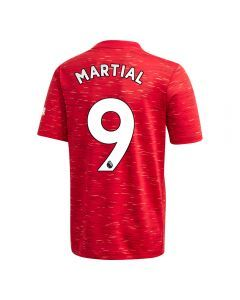 Adidas Youth Manchester United 'MARTIAL 9' Home Jersey '20-'21 (Real Red)