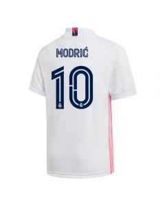 Adidas Youth Real Madrid 'MODRIC 10' Home Jersey '20-'21 (White)