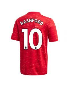 Adidas Youth Manchester United 'RASHFORD 10' Home Jersey '20-'21 (Real Red)