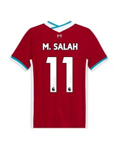 Nike Youth Liverpool 'M. SALAH 11' Home Jersey '20-'21 (Gym Red/White)
