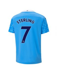 Puma Youth Manchester City 'STERLING 7' Home Jersey '20-'21 (Team Light Blue/Peacoat)