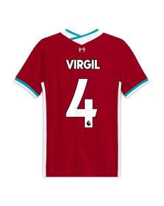 Nike Youth Liverpool 'VIRGIL 4' Home Jersey '20-'21 (Gym Red/White)