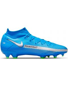 Nike Phantom GT Pro Dynamic Fit FG Firm Ground Soccer Cleats (Photo Blue/Met Silver/Rage Green)