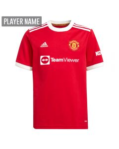 Adidas Manchester United Home Youth Soccer Jersey '21-'22 (Real Red)